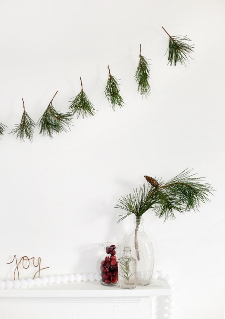 DIY Pine Sprig Garland @themerrythought