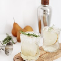 Pear Rosemary Spritzer