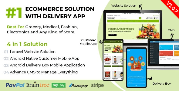 React Native Delivery Solution with Advance Website and CMS - 60