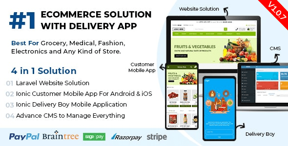 React Native Delivery Solution with Advance Website and CMS - 58