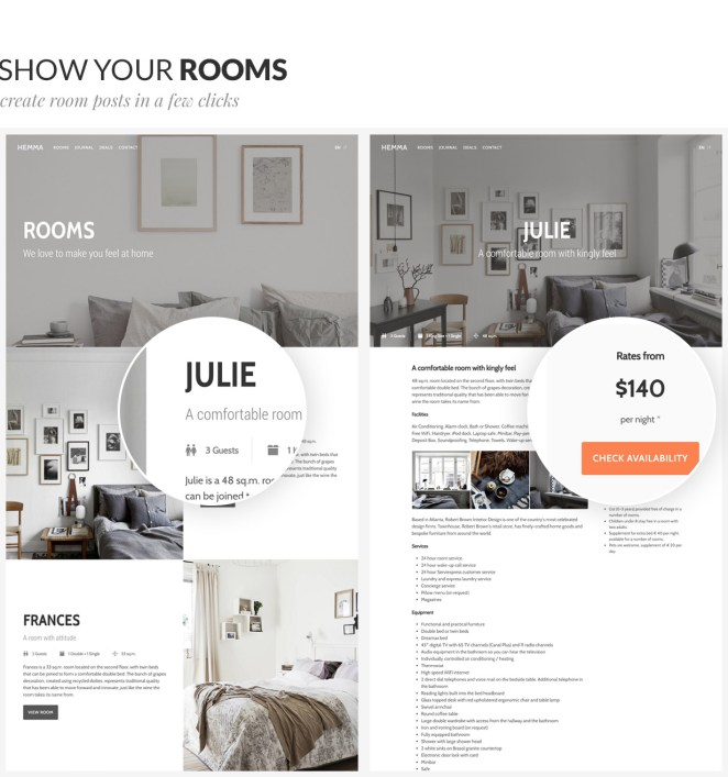 Hemma - A WordPress theme for Holiday Houses - 2