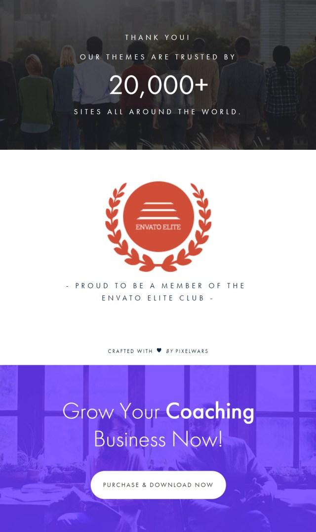 coaching theme by pixelwars - efor wordpress coaching theme for coaches