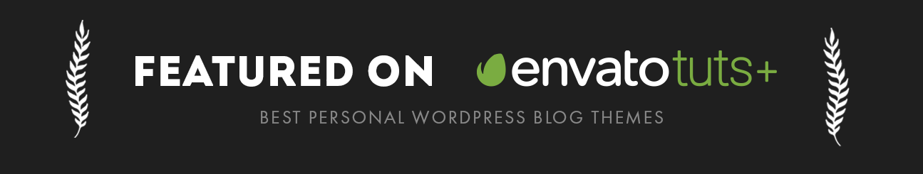 theblogger theme theme is featured on envato tuts plus as one of the best wordpress personal blog theme