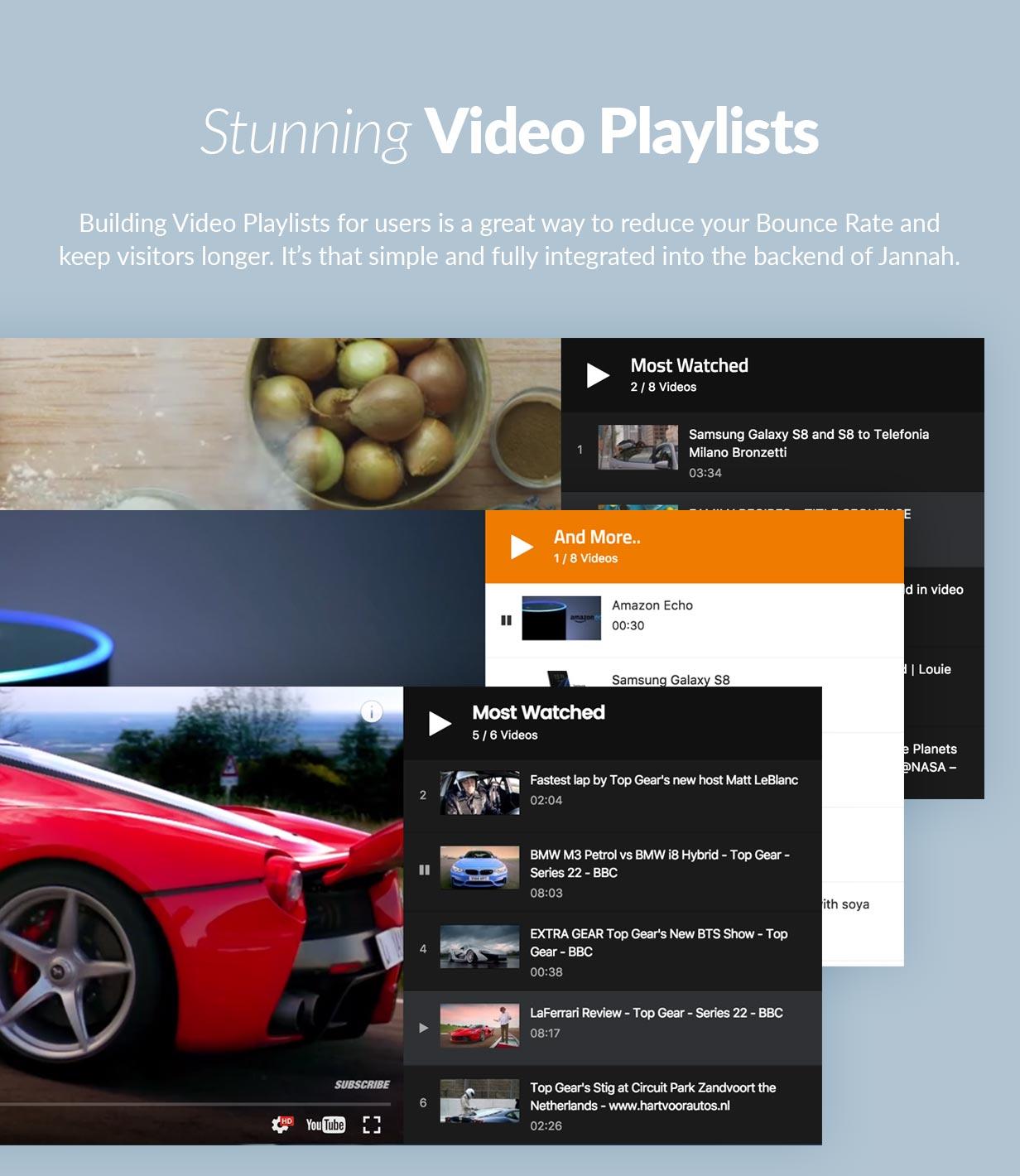 Stunning Video Playlists