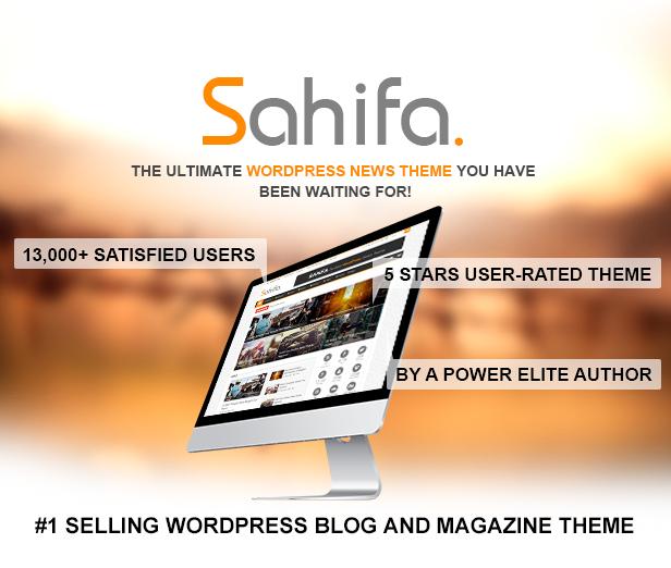 Sahifa - Responsive WordPress News / Magazine / Blog Theme - ThemeBox