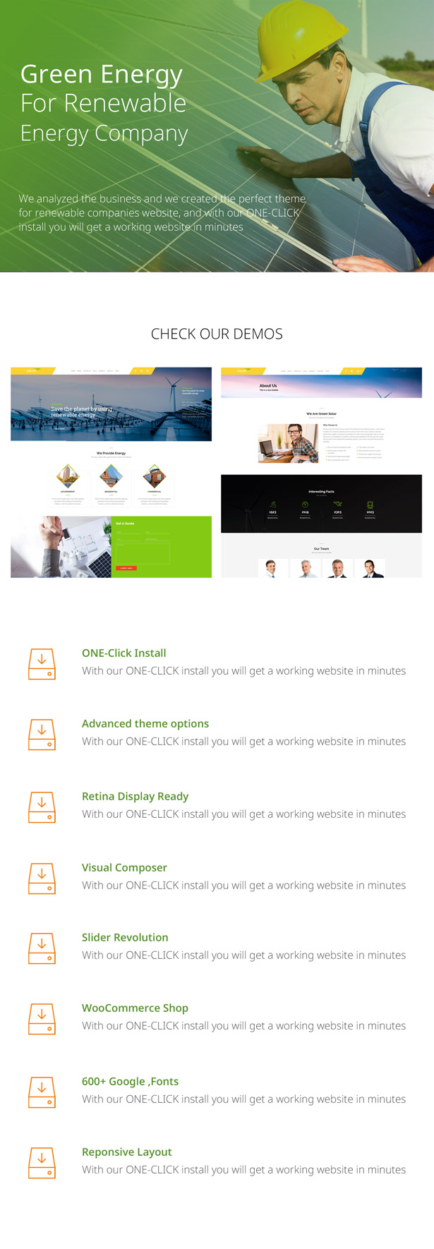 green energy wordpress theme