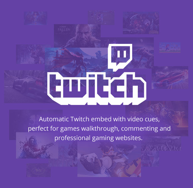 Twitch video support