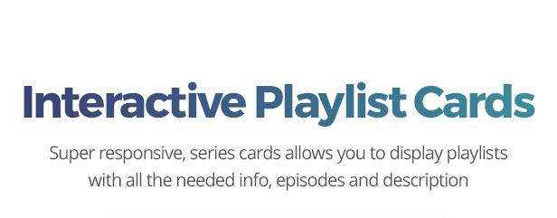 Playlist cards