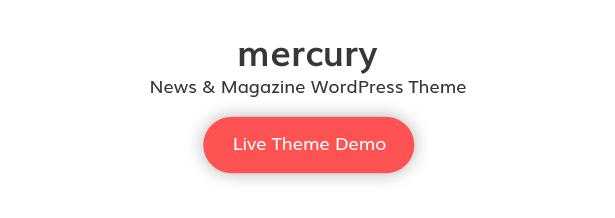 Mercury WordPress Live Theme Demo