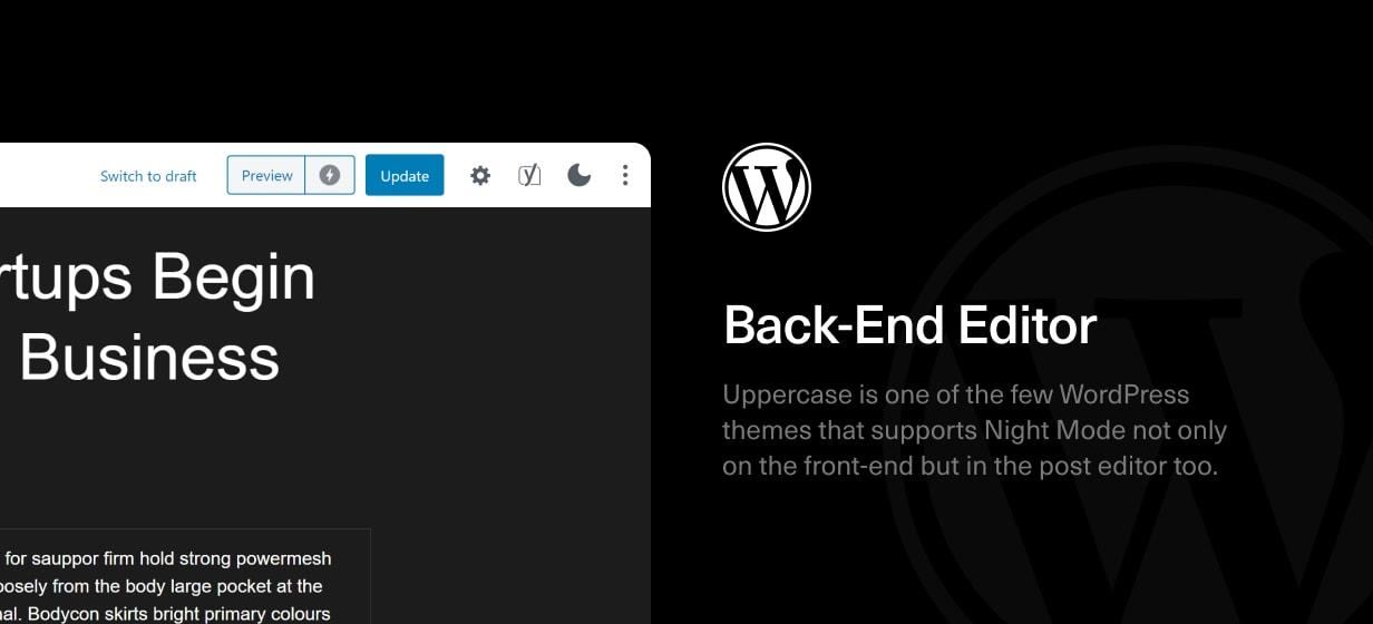 Uppercase - WordPress Blog Theme with Dark Mode - 5
