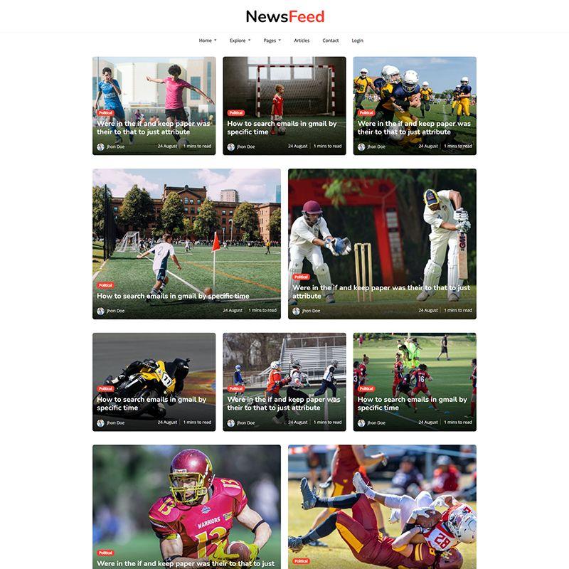 Newsfeed - Multipurpose Ghost Magazine, Blog Theme - 2
