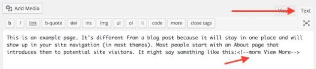 Customizing More tag
