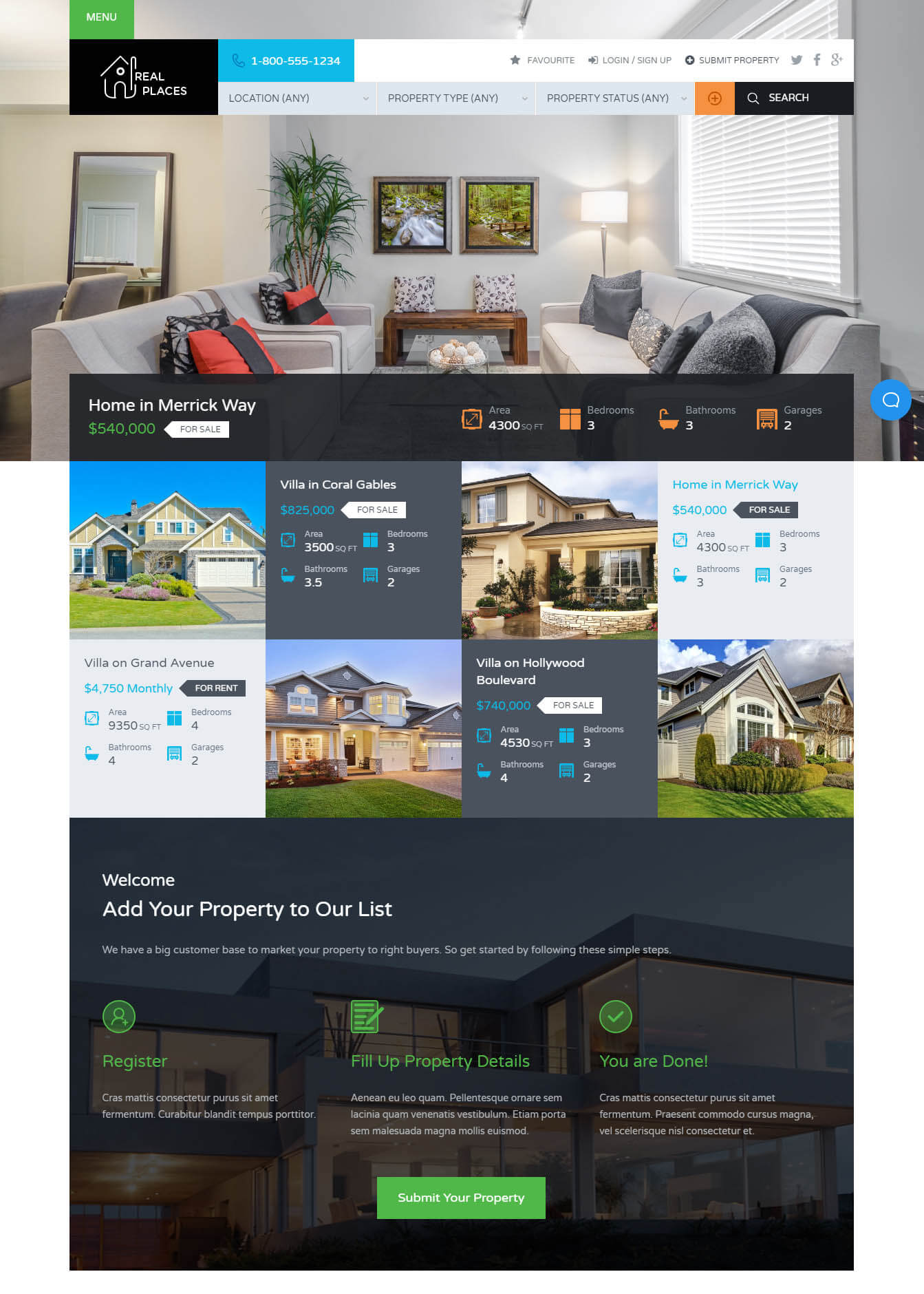 Real place real estate wordpress theme