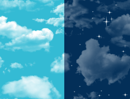 day and night clouds