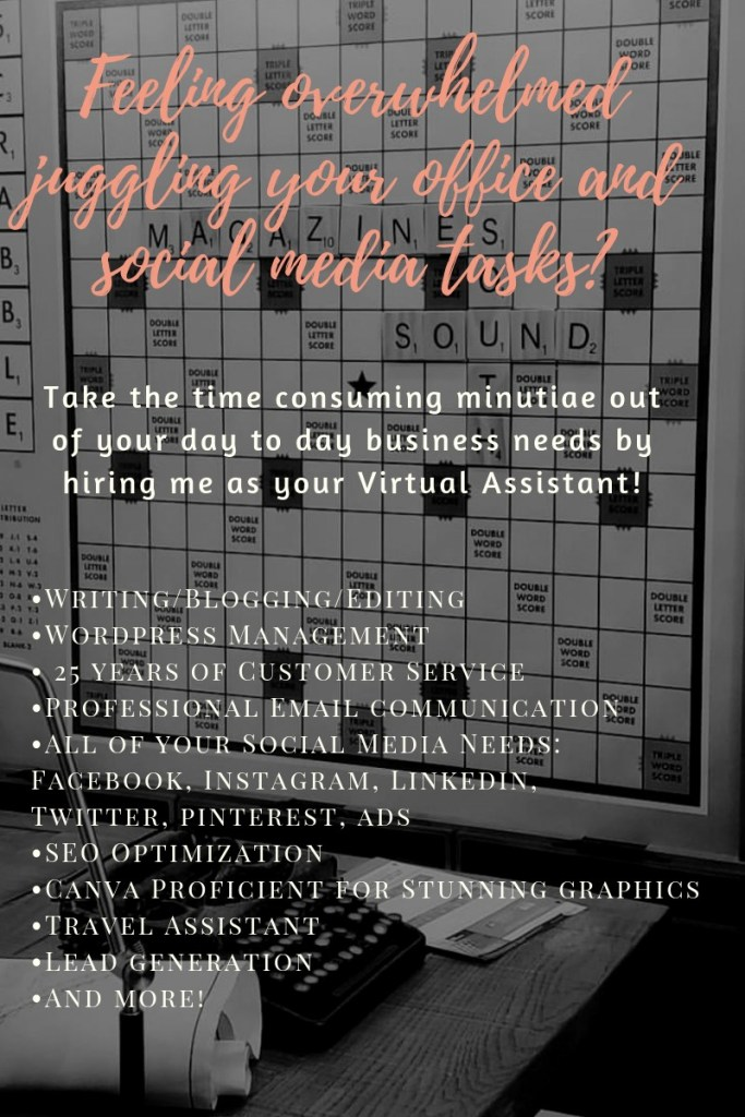 Feeling overwhelmed juggling your office and social media tasks? Hire me as your Virtual Assistant. Ashley Allyn. www.themessybadass.com