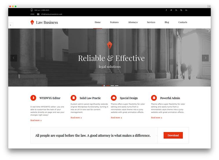 WordPress Law Theme Development & Support for Law Business
