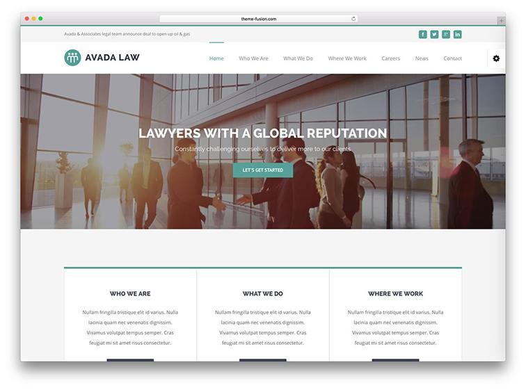 Avada WordPress Law Theme Development & Support