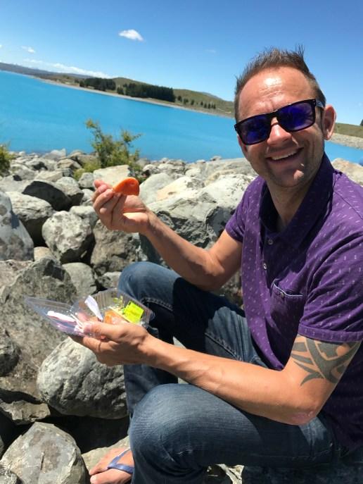 Fresh Salmon in Lake Pukaki, New Zealand