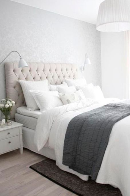 grey and white bedroom inspiration
