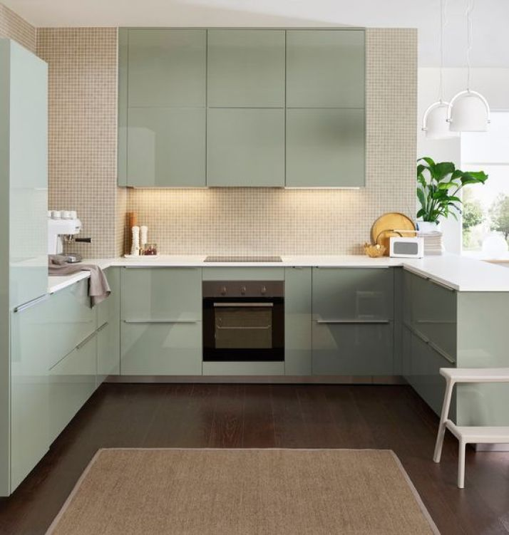 kitchen inspiration and ideas: ikea kallarp kitchen mint