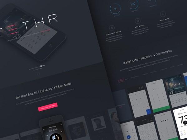 Free UI Kit - Tethr: UI kit for iOS