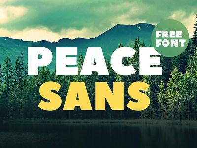 Peace Sans - Free Bold Font
