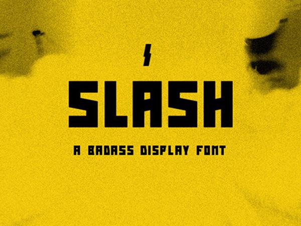 Slash: Free Display Font