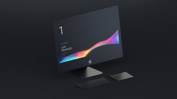 Block Matte Mockup - iMac