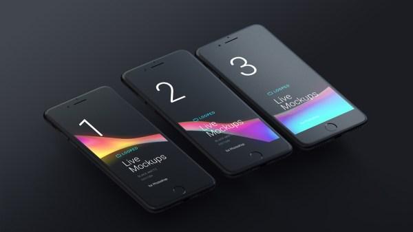 Block Matte Mockup - iPhones