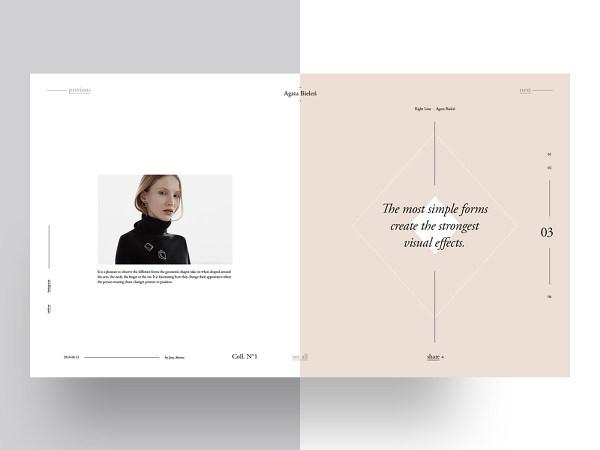 Agata Bielen: Free PSD Magazine Template