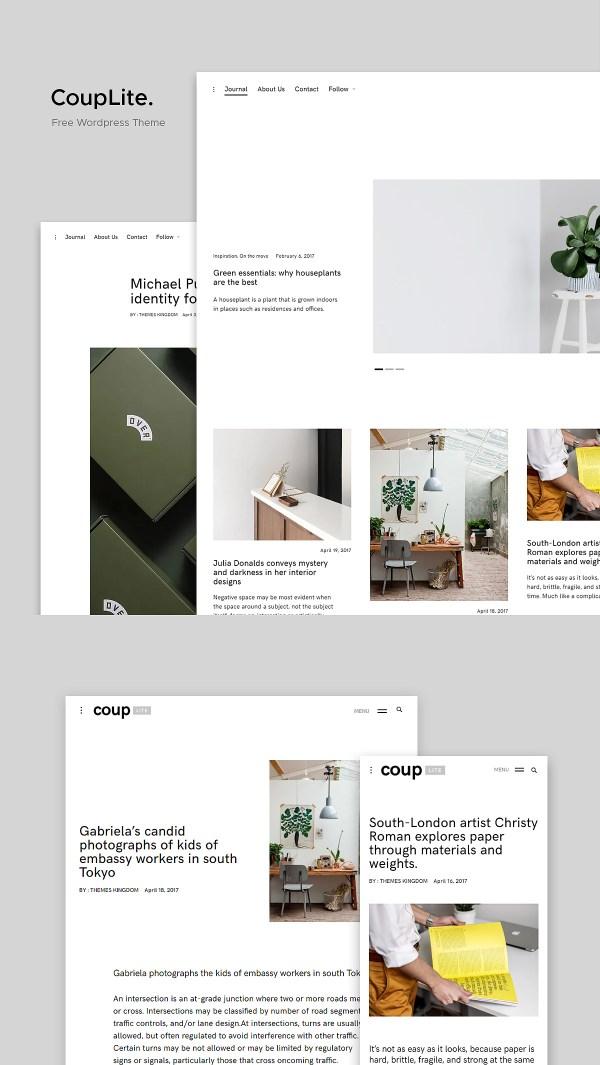 CoupLite: Free Portfolio WordPress Theme