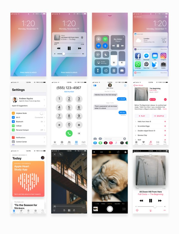 Facebook iOS 11 iPhone Free UI Kit