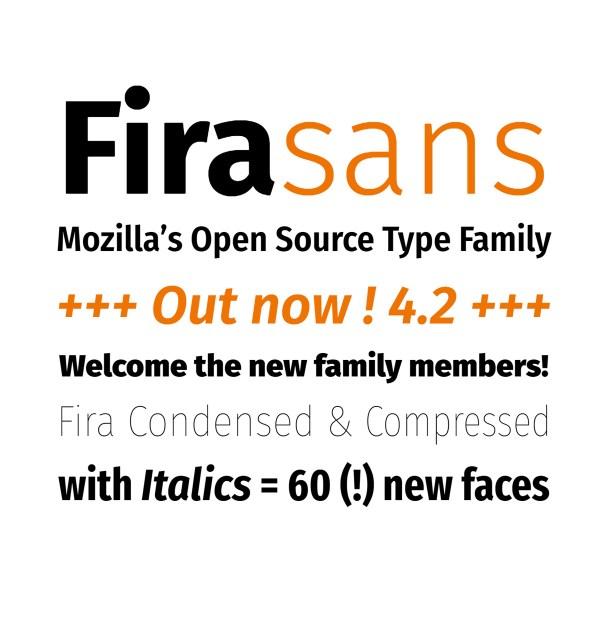Fira Sans: A Free Font Family by Mozilla