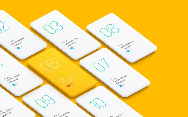 Free Minimalistic Phone Mockups
