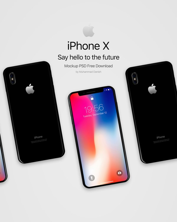 iPhone X Black PSD Mockup