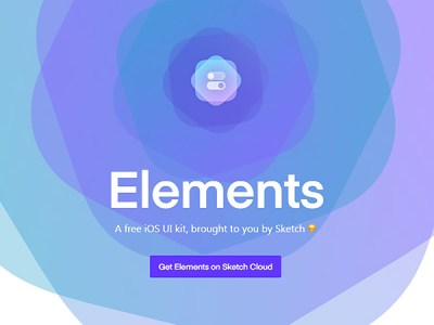 Elements: A free iOS UI kit by Sketch