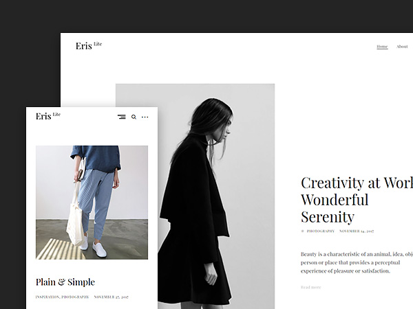 ErisLite: A Fast Free Minimalist Blog Wordpress Theme