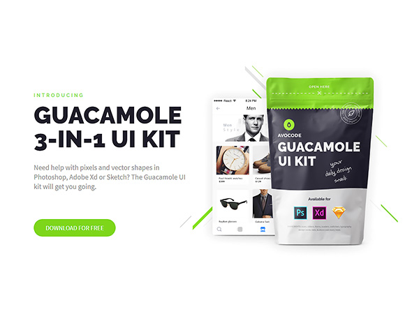 Guacamole 3-in-1 Free UI Kit | Theme-UI