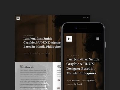 Howdy: Free HTML5 Portfolio Website Template