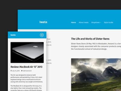 Iwata: A Clean and Lightweight Free WordPress Blog Theme