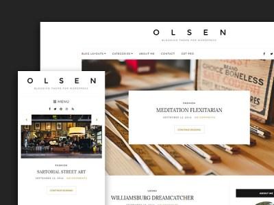 Olsen Light: A Free Lifestyle blogging WordPress Theme