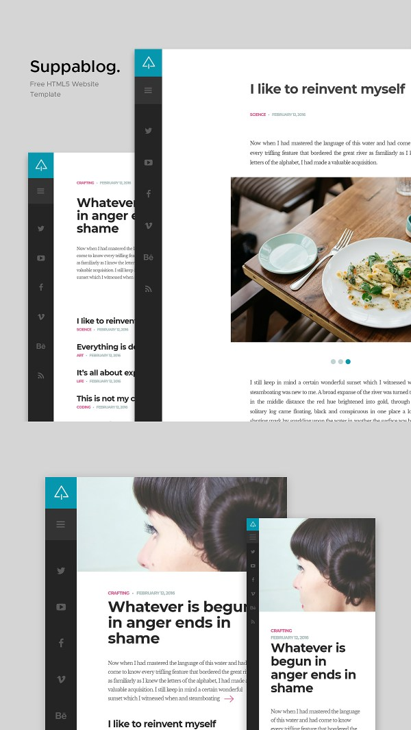 Suppablog - Free Blog Website Template