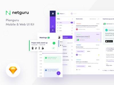 Planguru Free UI Kit