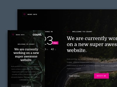 Free high quality psd and html website templates theme ui count creative and modern coming soon website template maxwellsz
