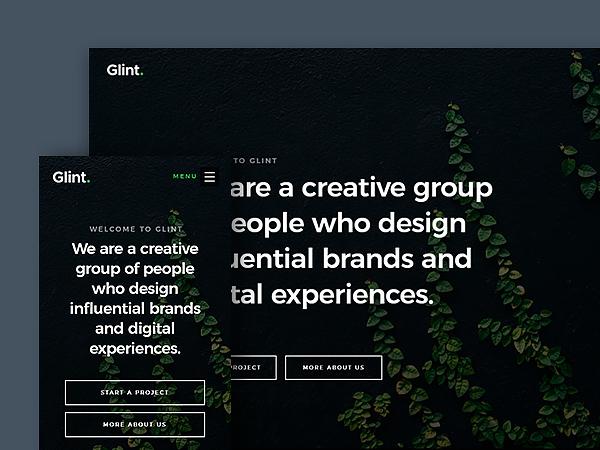 Glint - Free Agency HTML Website Template