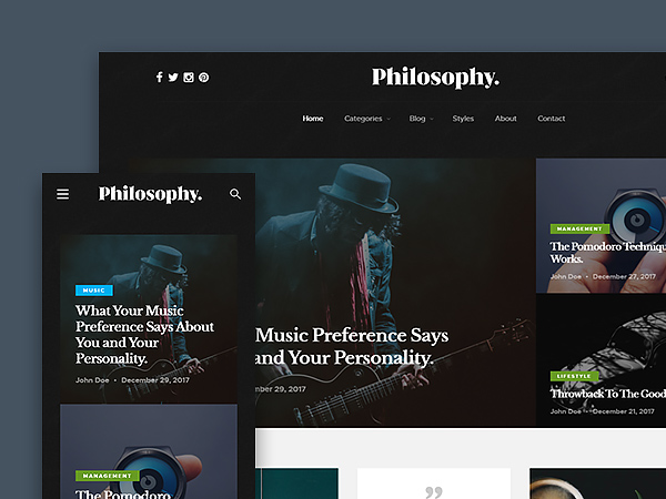 Philosophy - Free Blog Website Template