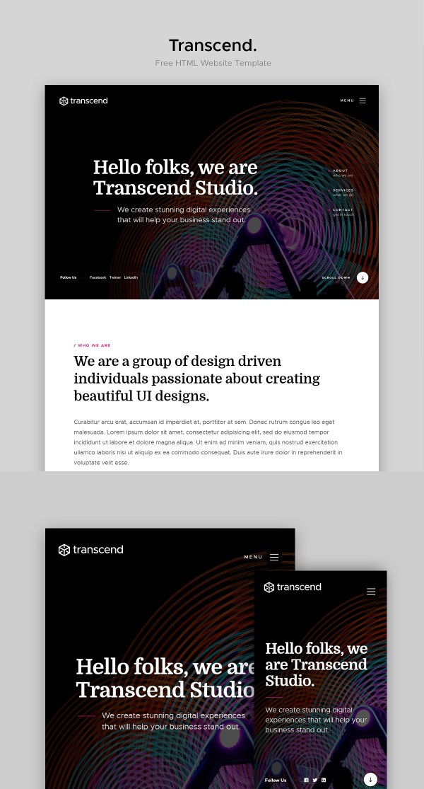 Transcend - Free Agency Website Template