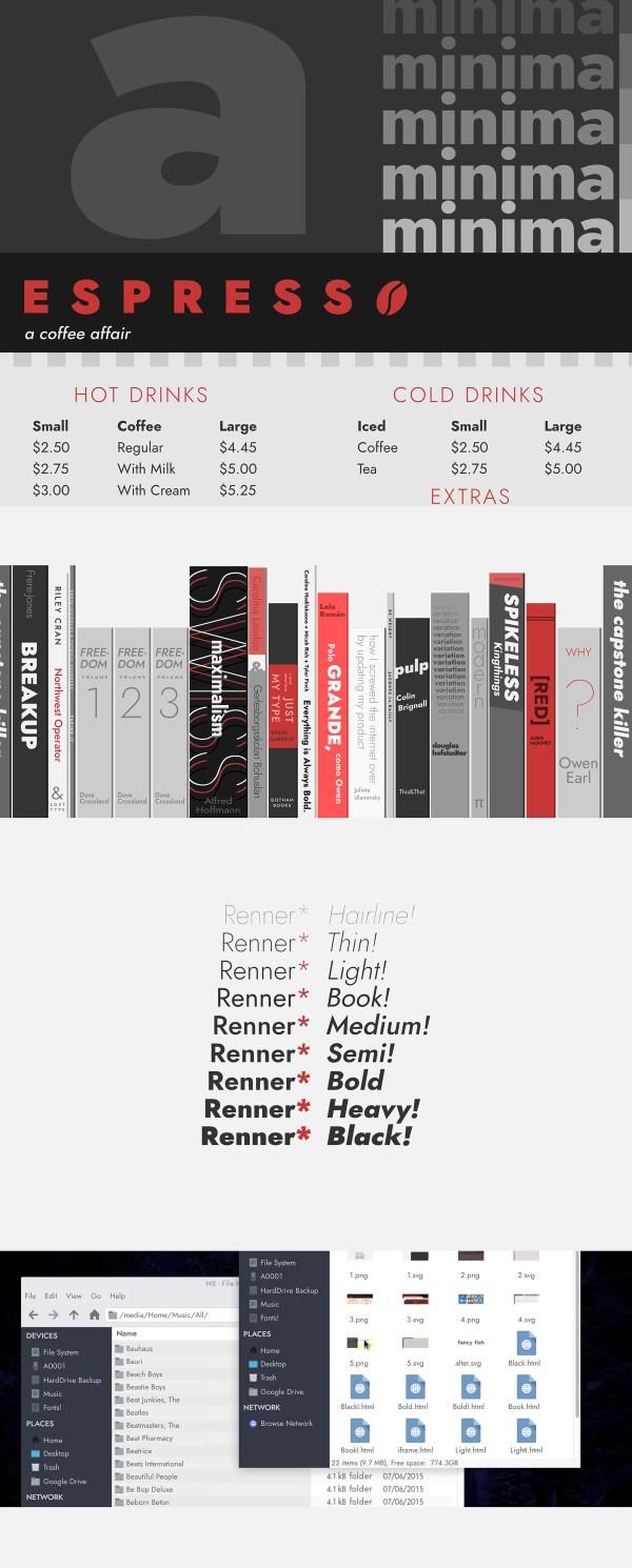 Renner - Free Futura Alternative Font