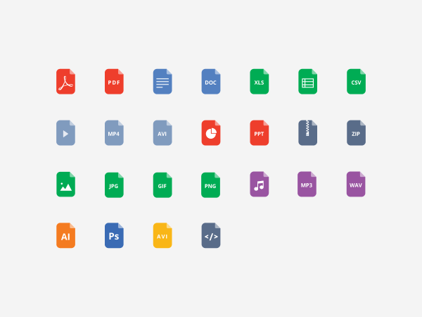 Free File Format Flat Icons - 2