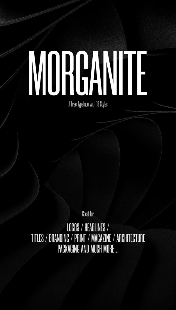 Morganite Free Font Family - 1